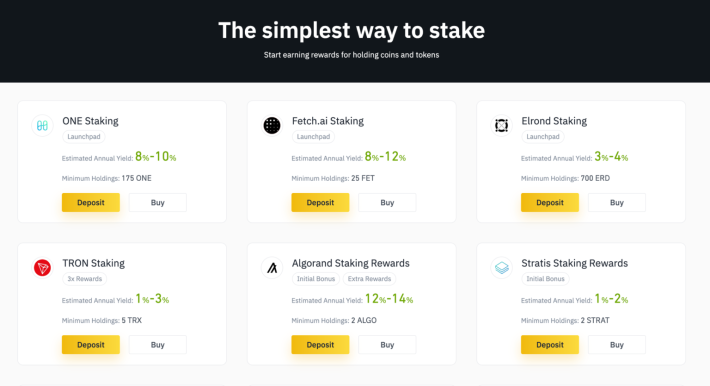 The simplest way to stake crypto currencies