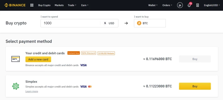 binance payment methods