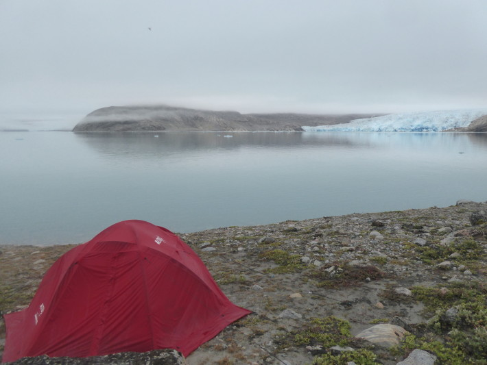 The icecap with one of our tents