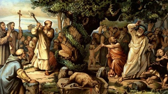 St. Boniface, Apostle of Germany, felling Donar's oak.