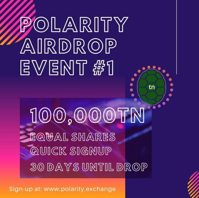 Polarity.Exchange official airdrop promotion card