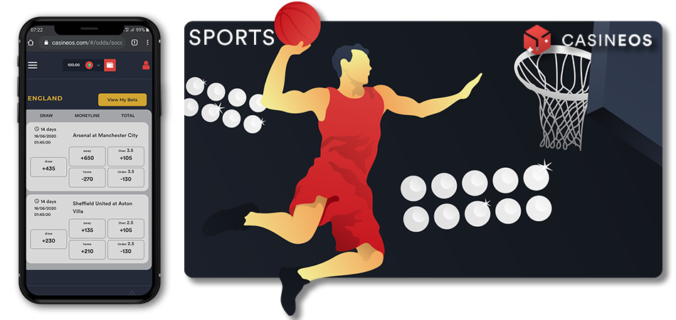Bet sports with Bitcoin and other cryptos
