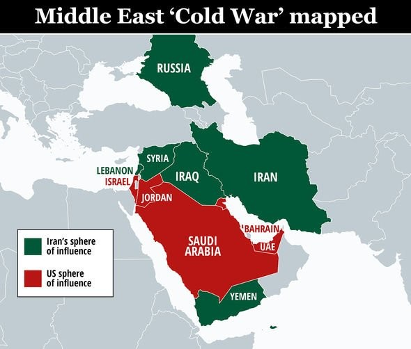 "The ""cold war"" in the Middle East between the West and the East"