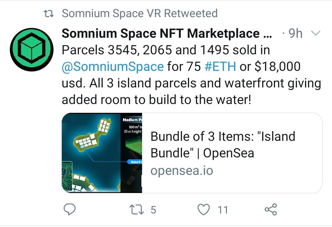 Somnium Sales Twitter