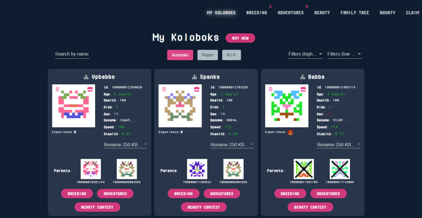 my koloboks page