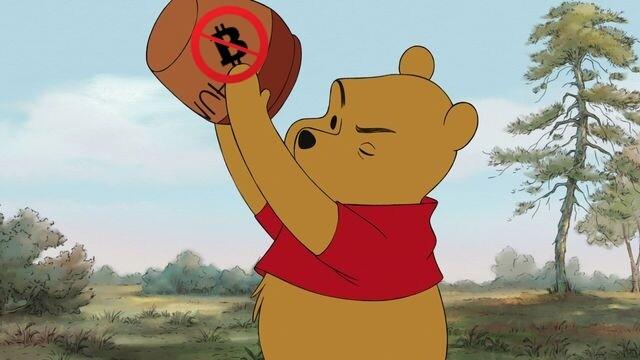 No hunny for Pooh