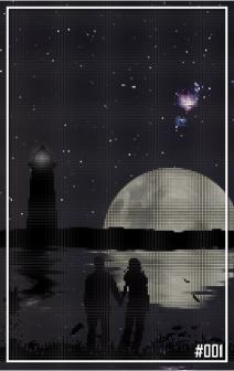 Shooting Stars Behind the Moonlight