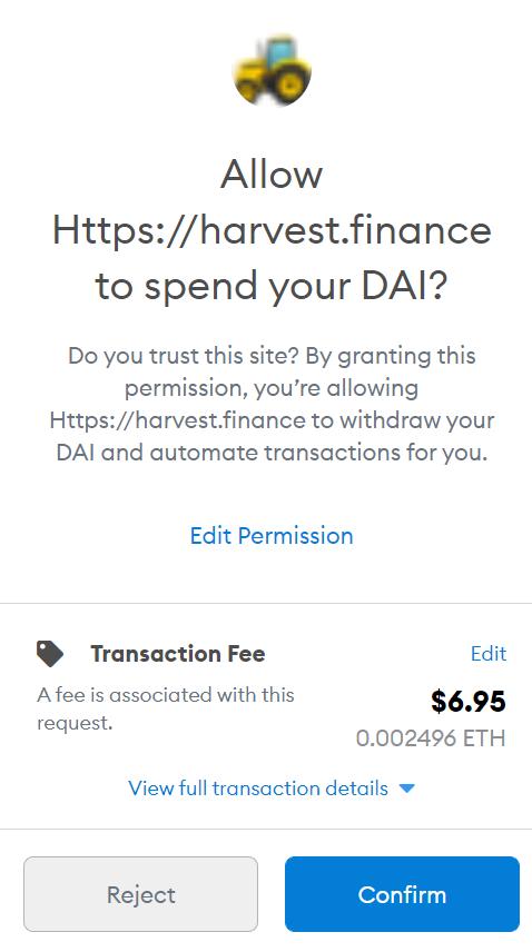 Ethereum fee