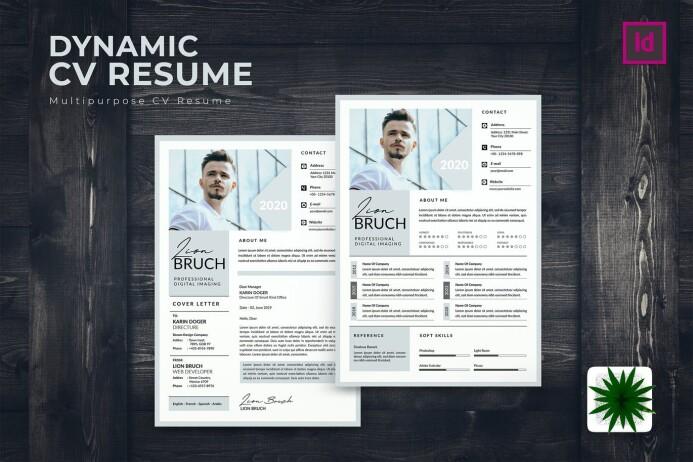 Dynamic CV Resume by karkunstudio on Envato Elements