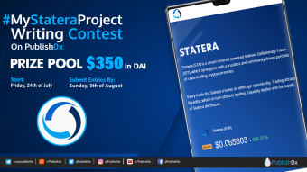 #MyStateraProject Writing Contest and Giveaway: (a minimum of) $350 in DAI Prize Pool!