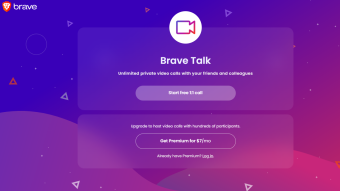 Brave Browser releases Brave Talk (Zoom/Webex) for free