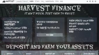 harvest finance: felt dark again might delete