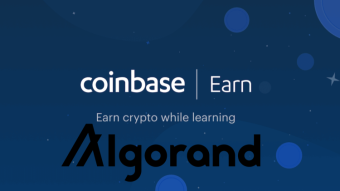 Algorand (ALGO) added to Coinbase Earn