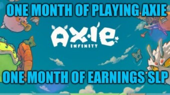 Axie Infinity - One month of earning $SLP