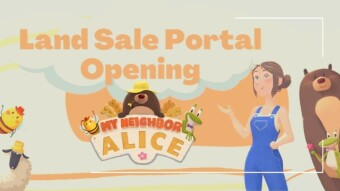 My Neighbor Alice Land Sale Staking is Live