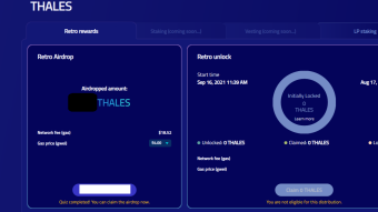 Retrospective Thales airdrop (Things to do when ETH gas fees are... not terrible).