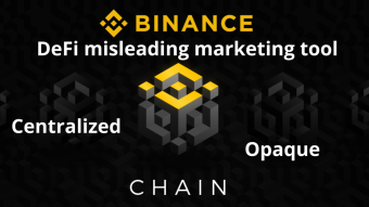 "Quote ""Binance Smart Chain makes even XRP appear decentralised"""