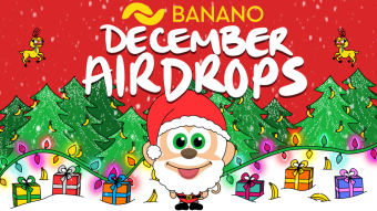 December Airdrops: BANANO Airdrop & free cryptomonKeys NFTs to ALL Publish0x users!