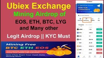 UBIEX EXCHANGE AIRDROP AND MINING Worth 600$