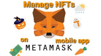 How to manage NFT's with the Metamask mobile app