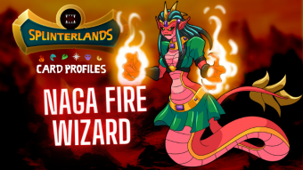 Splinterlands Rare Card Profile - Naga Fire Wizard