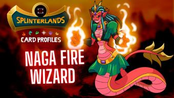 Splinterlands Rare Card Profile - Naga Fire Wizard