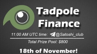 Tadpole Finance SatoshiClub AMA from 18 November