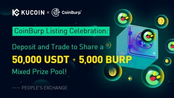 50,000 USDT & 5,000 BURP and More to Giveaway on KuCoin:CoinBurp (BURP) Listing Celebration (World Premiere!)