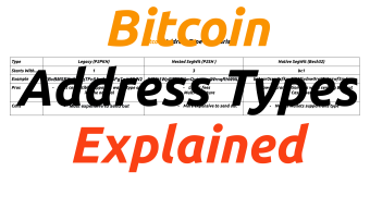 Bitcoin Address Type Comparison