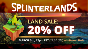 Splinterlands Limited Discounted Land Sale on WAX is off to a Smashing Start