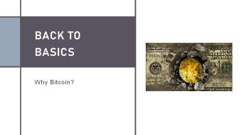 Back to Basics - Why Bitcoin (BTC)?