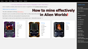 How to mine effectively on Alien Worlds!