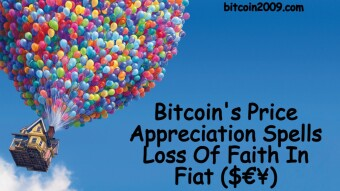 Bitcoin's Price Appreciation Spells Loss Of Faith In Fiat ($€¥)