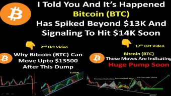 I Told You And It's Happened | Bitcoin (BTC) Has Spiked Beyond $13K And Signaling To Hit $14K Soon