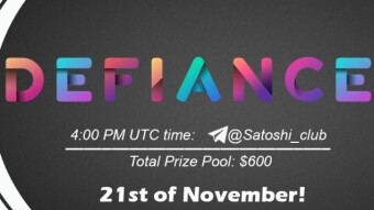DEFIANCE x Satoshi Club AMA from 21 November