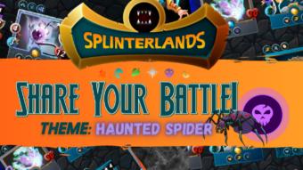 Haunted Creeper for Halloween  - Splinterlands Weekly Battle Challenge
