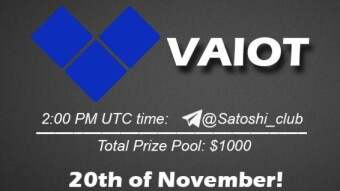 VAIOT x SatoshiClub AMA from 20 November