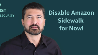 Disable Amazon Sidewalk for Now