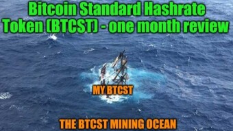 Bitcoin Standard Hashrate Token (BTCST) - One Month in the Hashrate Ocean