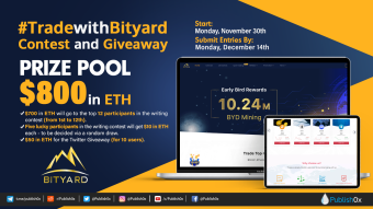#TradeWithBityard Writing Contest and Giveaway: $800 in ETH Prizes!