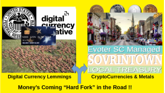 Shape the Great Reset with a Crypto/Metals Migration? SOVRINTown Local Crypto/Metal Treasury- First Peak