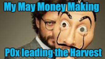 My May Monthly Money Making - Publish0x leading the Harvest!