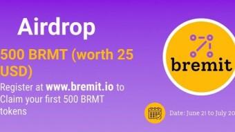 New Bremit Airdrop Reward: 900 BRMT 45$