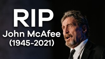 Rest in Pizza John McAfee (1945 - 2021)