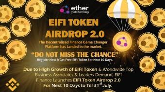 New Airdrop Eifi Finance Reward : 1 Eifi 78$