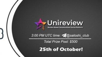 Join the AMA of Satoshi Club x Unireview. Rewards: 500 USDT, October 25th.