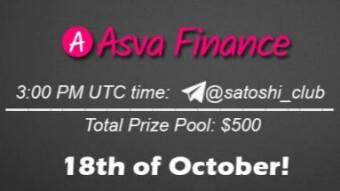 AMA Satoshi Club x ASVA, October 18th