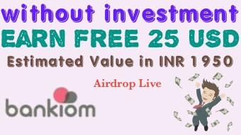 Bankiom Airdrop USD – Receive $20 USD Free