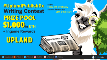 #UplandPublish0x Writing Contest and Twitter Giveaway: $1,000 in ETH Rewards!
