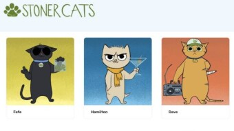 Superhit NFT sales of the Animated Cat Show, 'Stoner Cats' on the Ethereum Blockchain